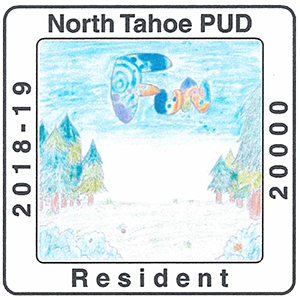 North Tahoe public utility District resident sticker