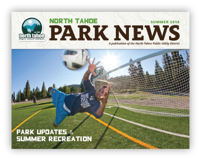 Park News cover shot with soccer player
