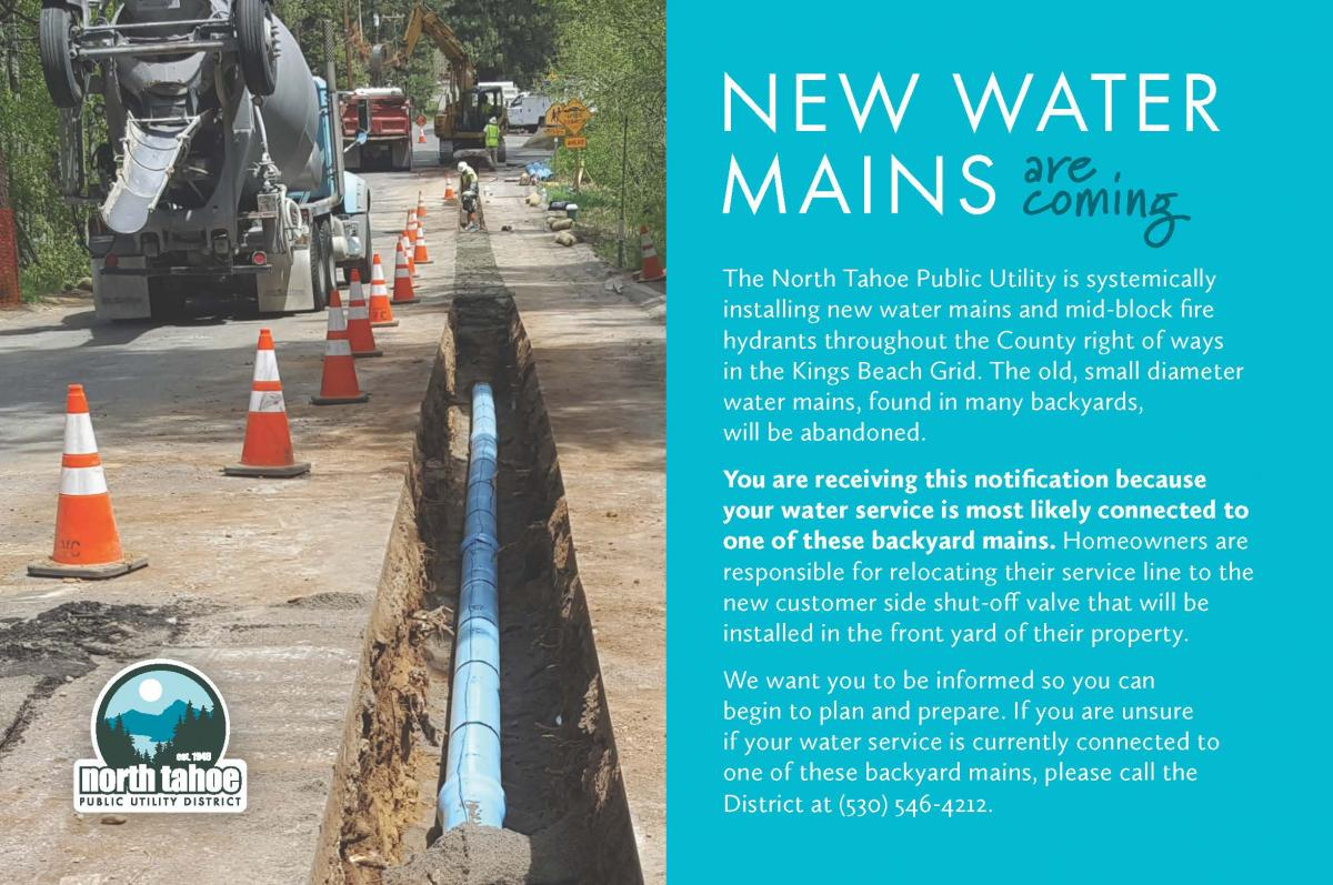 NTPUD New Water Mains