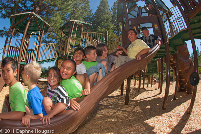 kids at playground in north tahoe regional park