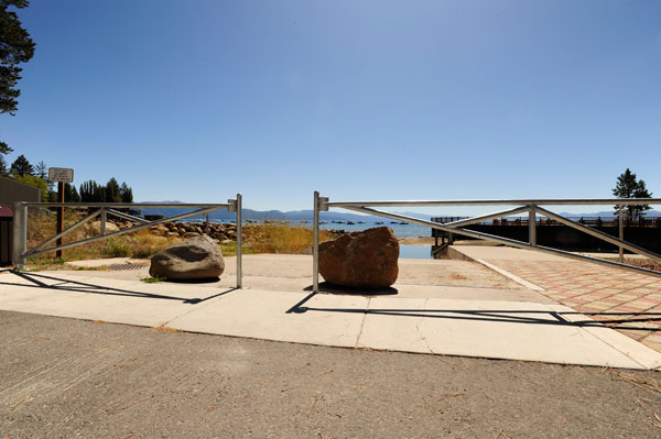 gates with boulders at tahoe vista recreational area
