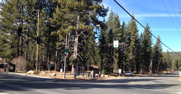 intersection at north lake tahoe blvd and national ave