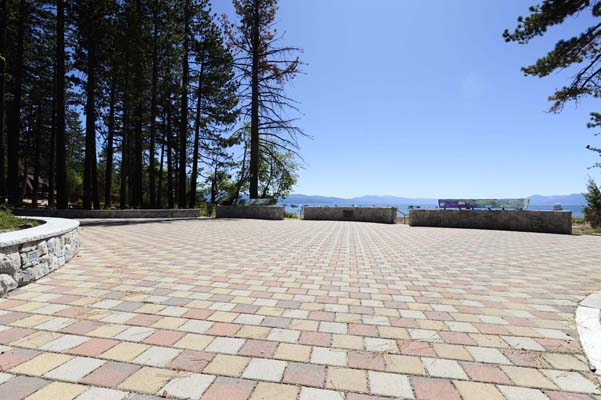 plaza area at tahoe vista beach