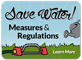 Save Water! Measures & Regulations graphic